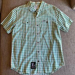 Worn Once LRG Green Plaid Button Down Shirt L